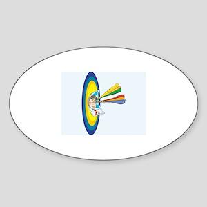 Darts Sticker (Oval)