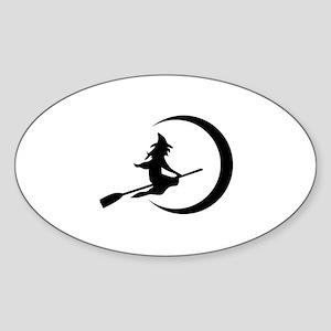 Witch Sticker (Oval)