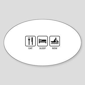 Eat Sleep Row Sticker (Oval)