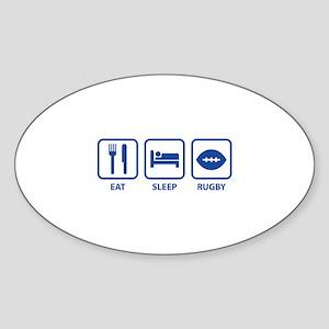 Eat Sleep Rugby Sticker (Oval)