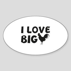 I Love Big Sticker (Oval)