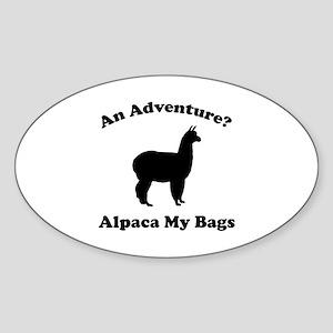 An Adventure? Alpaca My Bags Sticker (Oval)