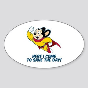Mighty Mouse Here I Come Sticker