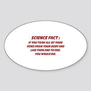 Science Fact Sticker (Oval)