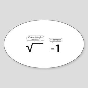 It's Complex Sticker (Oval)
