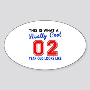 Really Cool 02 Birthday Designs Sticker (Oval)