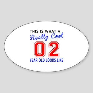 Really Cool 02 Birthday Designs Sticker (Oval)