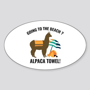 Alpaca Towel Sticker (Oval)