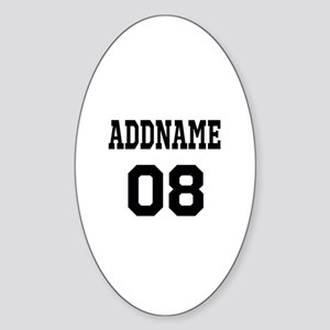 Custom Sports Theme Sticker (Oval)