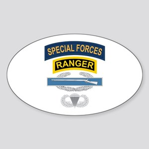 SF Ranger CIB Airborne Sticker (Oval)