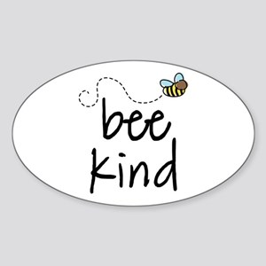 Be Kind Garden Bee Oval Sticker