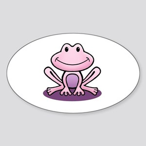 Pink Frog Sticker (Oval)
