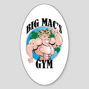 Big Mac's Gym Oval Sticker