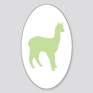 Alpaca (#2 in green) Oval Sticker