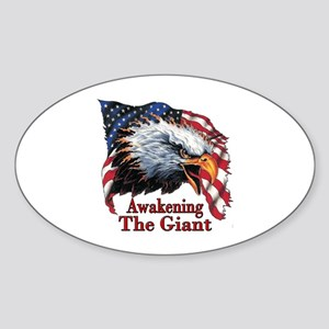 Awakening The Giant Oval Sticker