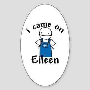 Eileen Oval Sticker