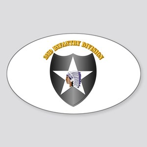 SSI - 2nd Infantry Division with Text Sticker (Ova