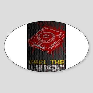 Pioneer CDJ Feel The Music Sticker (Oval)