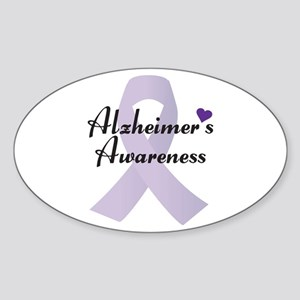Alzheimers Awareness Ribbon Sticker