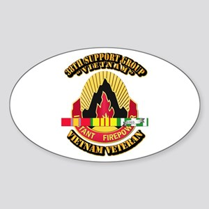 38th Support Group w SVC Ribbon Sticker (Oval)