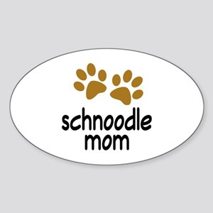 Cute Schnoodle Mom Sticker (Oval)