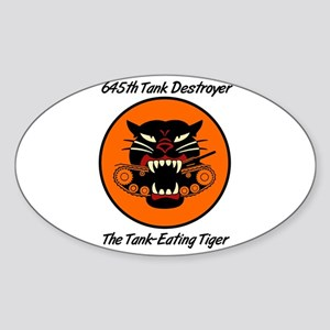 Oval Sticker w/ 645th Tank Destroyer Patch