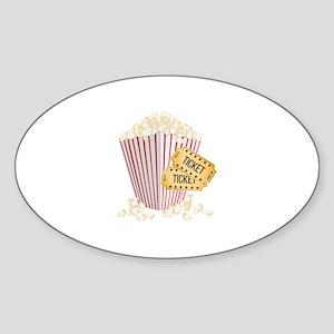 Movie Popcorn Sticker