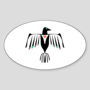 Native American Thunderbird Sticker (Oval)