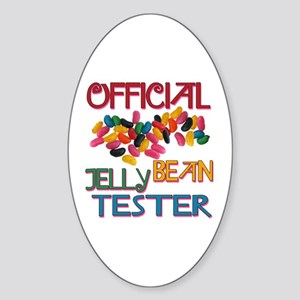 Jelly Bean Tester Oval Sticker