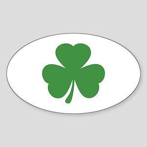 green shamrock irish Oval Sticker