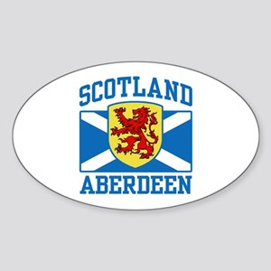 Aberdeen Scotland Sticker (Oval)