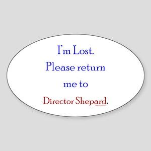 Return Me to Shepard Sticker (Oval)