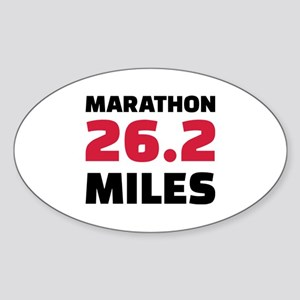 Marathon 26 miles Sticker (Oval)
