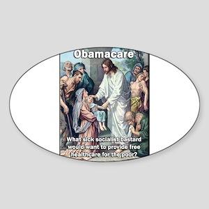 Obamacare: Sick Socialist Jesus Sticker