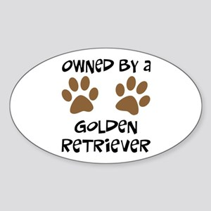 Owned By A Golden... Oval Sticker