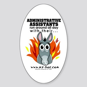 Administrative Assistants Oval Sticker
