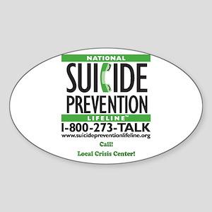 Prevent Suicide! Oval Sticker
