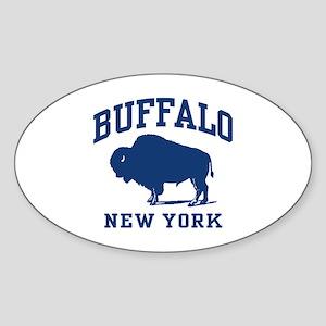 Buffalo New York Oval Sticker