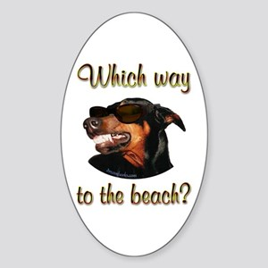 Beach Dobe Oval Sticker