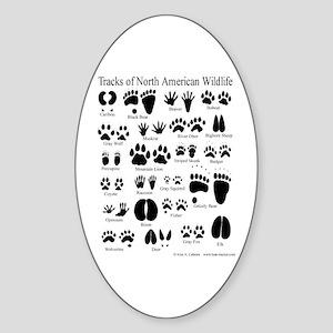 Animal Tracks Guide Oval Sticker