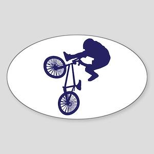 BMX Biker Sticker (Oval)