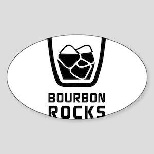 Bourbon Rocks Sticker