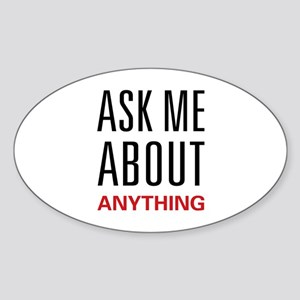 Ask Me Anything Oval Sticker