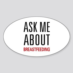 Ask Me Breastfeeding Oval Sticker
