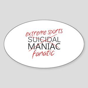 'Extreme Sports' Sticker (Oval)