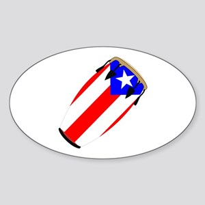 Conga Puerto Rico Flag Oval Sticker