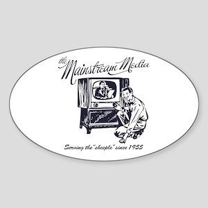 The Mainstream Media Oval Sticker