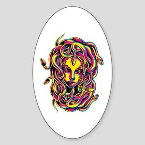 CMYK Medusa Oval Sticker