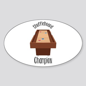 Shuffleboard Champion Sticker