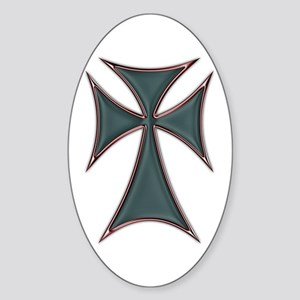 Christian Biker Chopper Cross Oval Sticker